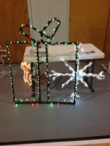 These are my gift package and snowflake that I made and brought.